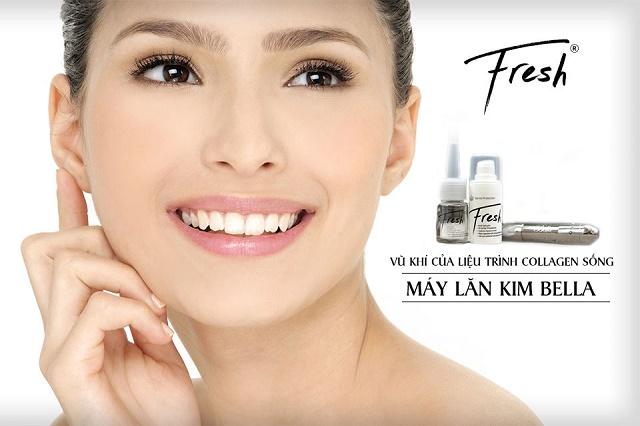 Điều trị sẹo nông bằng lăn kim Collagen sống an toàn 1