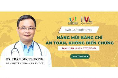 Giao lưu trực tuyến cùng Bác sĩ Trần Đức Phương
