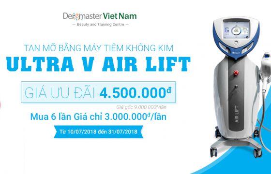 Đánh tan mỡ bụng bằng máy tiêm không kim Ultra V Air Lift